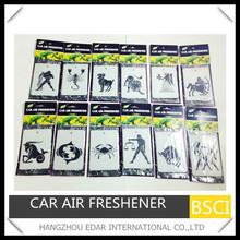 the Zodiac make hanging paper car air freshener