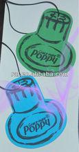 Bottle car shape paper air freshener with long-lasting fragrance/Advertising hanging paper car air freshener
