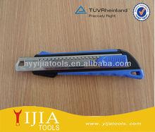 self locking blue Plastic case cutter knife, utility knife