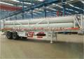 A granel de almacenamiento de gas cilindro semirremolque semirremolque, Bv & iso, 8-tube gnc tanque