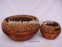 handmade wicker knitting basket / wicker finishing basket / decorative wicker basket
