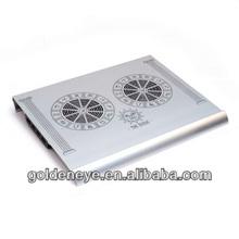 2012 hot selling aluminum laptop cooling pad/notebook cooler/ventilador
