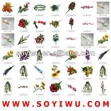 Flores decorativas funeral mayorista de yiwu mercado de flor artificial& bines