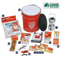 LOGOS Corporation,emergency supplies,Survival Kit.Disaster Kit Can 14-piece set.