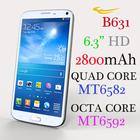 (B631) MT6582 6592 Quad Core Octa Core 6.0 inch HD android 3g smart phone