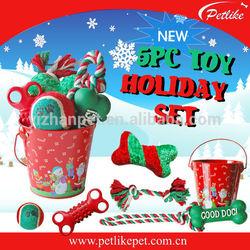 2015 Wholesale China Christmas gift pack dog toy