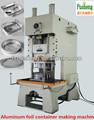 desechables de papel de aluminio contenedor oval y tapas de la fabricación de la máquina