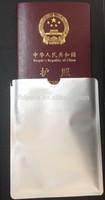 Free Shipping Aluminum Foil RFID Blocking Passport Sleeve Passport Holder 100pcs / lot