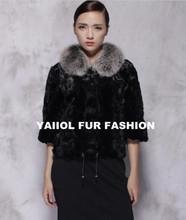 mk14268 black paw mink pieces fur jacket