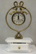 antiqued desk clock novelty desk clock luxury desk clock