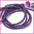 Del grano, Cristal de la perla, Púrpura, 4 mm ronda