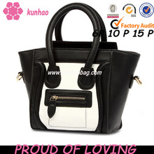 2014 kunhao handbag factory custom pu leather fashion ladies purse
