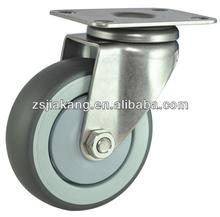 Rubber stainless steel caster ,TPR swivel caster