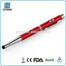 2014 Multifunction 4in1 laser pointer pen stylus