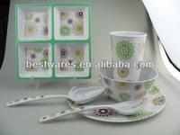 Professional melamine fireworks pattern holiday dinnerwares sets