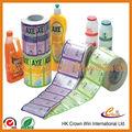 Etiqueta personalizada para marca de botella redonda, etiqueta para botella plástica, etiqueta para marca de perfume