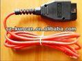 12 v / 24 v vag com 409.1 del USB obd ii de diagnóstico cable con DC / USB / RJ45 para el coche de diagnóstico szkuncan