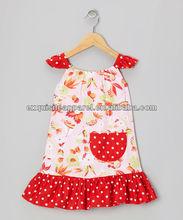 Hawaiano Red de la manga vestidos para bebés, Infantil de las muchachas y las muchachas del niño