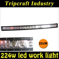 224W curved led light bar 12v 4x4 car accessories,off road led light bar 112W/224W/264W 3w&10w chip