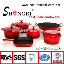 FDA standard enamel cast iron cookware