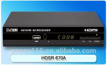 Gecen 2014 digital satellite TV receiver/ set-top-box DVB-S2/ Model HDSR 670A
