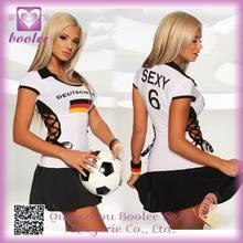 Hot Popular Beautiful World Cup Jersey Mini Dress Sexy Football Costumes