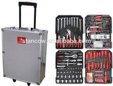 Professional 186 trolley tools box (tools;portable 186 pcs aluminum case tool set)