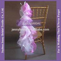 C147E organza fancy chair sashes for weddings