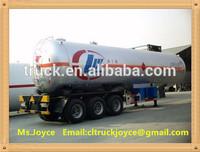 Isobutane lpg Semi-trailer ,56.0CBM lpg tank trailer,compressed petroleum gas semi-trailer
