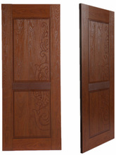 beautiful special mdf building melamine door skin design - YBDS015