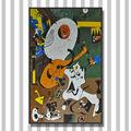 lj jy-jh-ad04 بيكاسو اسلوب غرفة نوم جدارية الجدار الشنق اليدوية البلاط الزجاج الفسيفساء صورة الفنان اللوحة التجريدية الحديثة