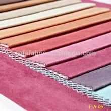 novo estilo de camurça do falso tecido da china