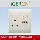 South Africa wall socket and switch with CE