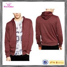 New design 100% cotton pullover heavyweight cotton zip up hoodie