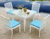 PE rattan/wicker weave outdoor/balcony/garden/furniture/dining table/chair