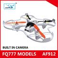2014 nuovo e caldo elicottero rc af912 2.4g 4ch 6- asse quadcopter telecamera drone professionale per 3d rotazione