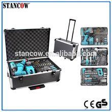 206pcs aluminum tool trolley case(tool set;tools)