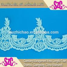 new flower design turkey 14.1cm embroidery wedding dress lace