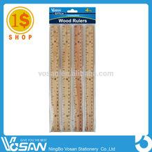 1 Dollar Shop 30cm Wooden Straight Ruler 30cm/12inch Wooden Ruler-FBS1004