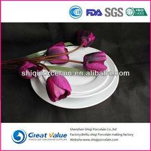 round cheap white dinner plates for restaurant