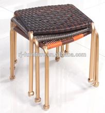 Cane/Rattan/Wicker children stool/Handicraft knit/weave outdoor/waterproof furniture