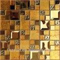 beau mur et de plancher de décoration en mosaïque de verre irisé personized design