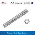 Malla de titanio jaula sistema ortopédica instrumento de la columna vertebral de implante