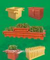 madera y plástico compuesto de flor de wpc junta de la caja