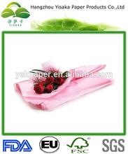 pink tissue paper flower wrap
