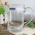 hecho a máquina sólido transparente de vidrio de cerveza taza