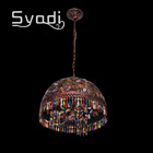 2014 new cheap brass iron pendant lamp with crystal bead J-018