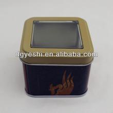 Squre pvc window for the tin box