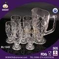 Jarra de 1L vidrio y Jarra de vidrio con 6 tazas, jarra de vidrio para beber