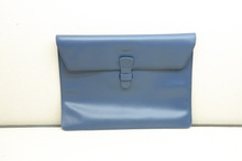 """Hot sell blue color real 11"""" leather tablet case"""